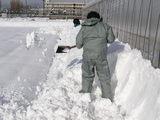 冬でした。雪が積もりました(^o^)
